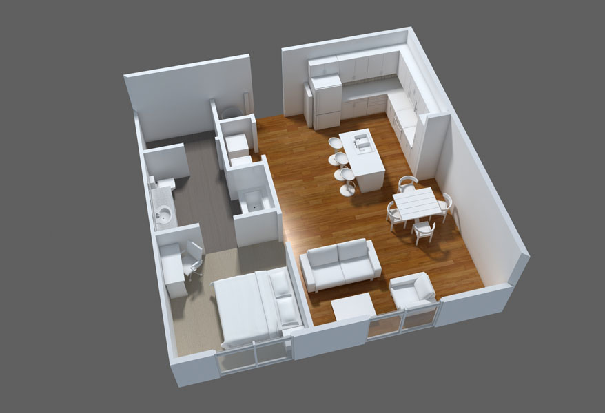 Photo 600 sq ft home plans images 700 sq ft apartment for Modular homes less than 1000 square feet